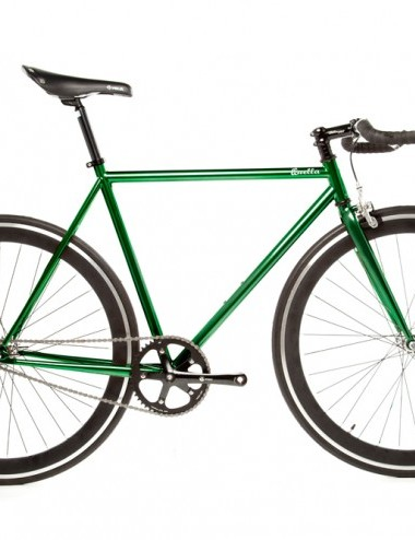 Quella One singlespeed/fixed gear bike - green