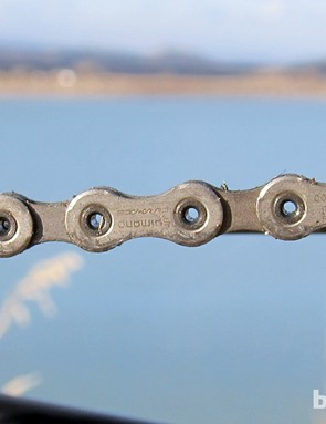 The new chain returns to a symmetrical design that's easier to install and supposedly 20 percent more durable thanks to a new PTFE coating - despite being slightly narrower than the outgoing 10-speed version