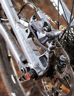 Avanti cleverly include steel inserts for the threads on the Coppermine's post-mount brakes, making them harder to strip and easily replaceable if you do