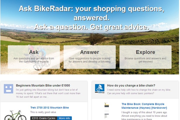 The Ask BikeRadar question and answer service has just launched