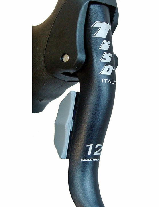 The shifter/brake levers feature a rocker-type switch for shifting