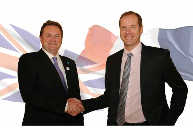 Gary Verity, chief executive of Welcome to Yorkshire and Tour de France boss Christian Prudhomme