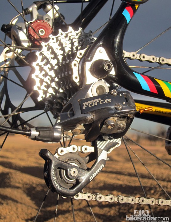 The SRAM Force group is a good high-end option for 'cross, offering nearly the same performance as Red but at a much more reasonable price