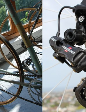 From pushing gear with a metal rod to electronic shifting, the bicycle drivetrain has come a long way