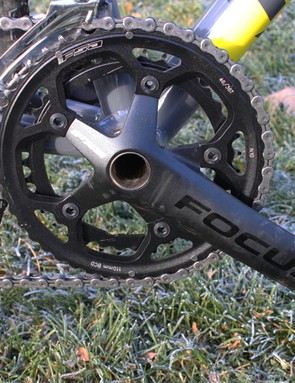 FSA Gossamer 46/36 chainrings don't shift as quickly as higher end rings, though performance was acceptable given the price