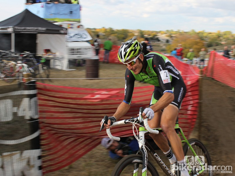 This is Trebon's first season racing a disc-equipped cyclocross bike