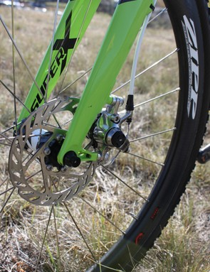 The Cannondale-Cyclocrossworld.com team is running Avid's BB7 SL disc brakes until SRAM's hydraulic Red group is ready