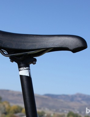You can identify Trebon's rigs by his tried-and-true Selle San Marco Concor Lite saddles