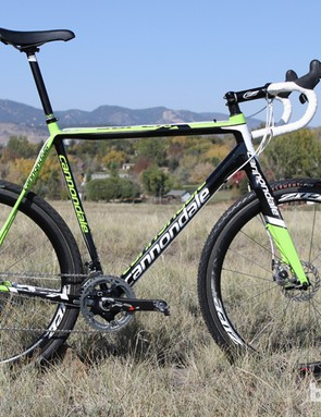 Ryan Trebon's Cannondale SuperX Hi-Mod Disc features custom geomety to better suit the lanky racer