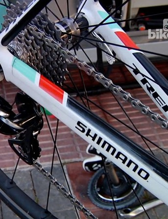 The rear end of Fabian Cancellara's Trek Domane