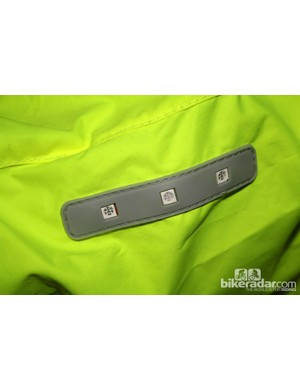 One of the LED strips on the Visijax jacket