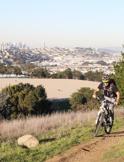 Hans Rey riding in McLaren Park
