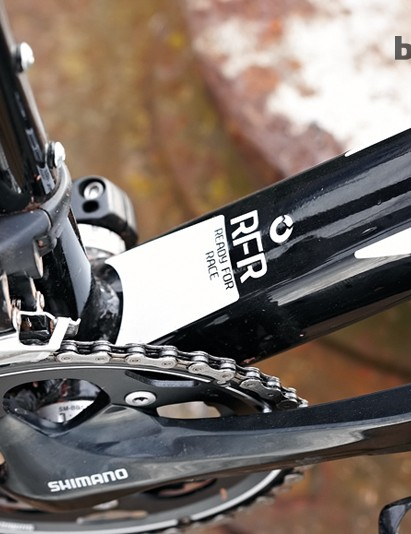 The oversize down tube creates stiffness at the BB junction