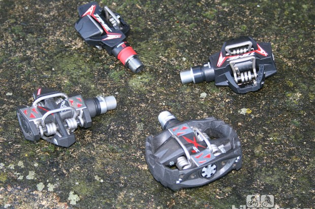 Four pedals from Time's off-road range (clockwise from top): ATAC XC12 Titan Carbon, ATAC XC8 Carbon, X ROC-S and ROC ATAC-S