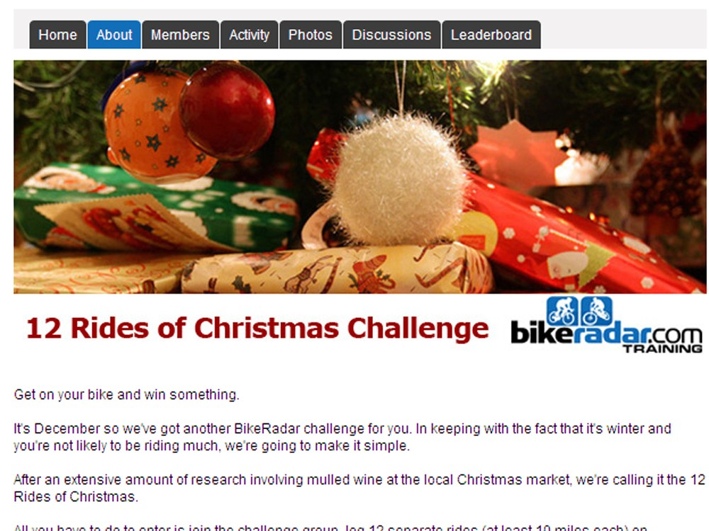 There's still time to enter the 12 Rides of Christmas challenge