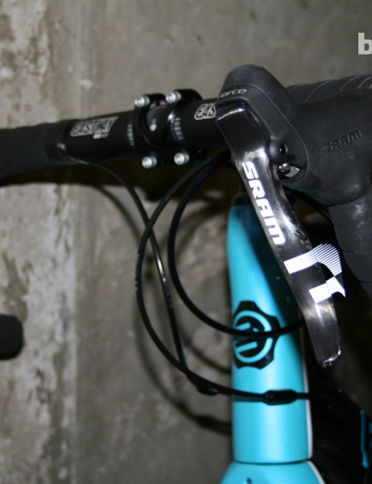 SRAM Force shifters and the new Eastway compact bar and stem