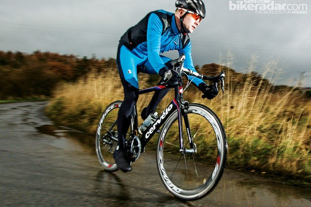 The aerodynamic Cervélo S5 is still fresh and new, and quite a head turner