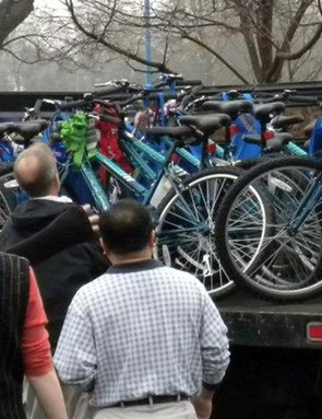 Bike Lady provides about 1,000 bikes, helmets and locks to the Franklin County Children Services Holiday Wish program for children with a history of abuse, neglect of abandonment