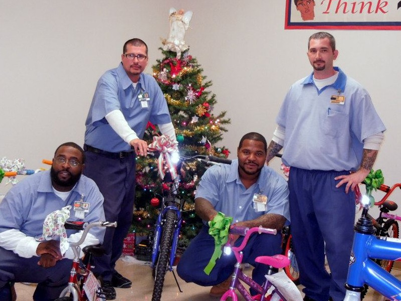 Prisoners in Ohio were happy to build bikes for kids through the Bike Lady program