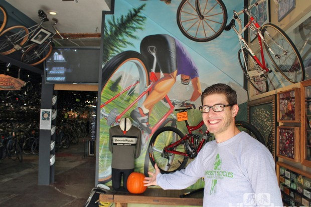 Welcome to U Bikes! A staffer is always posted at the door to greet you as you enter University Bikes