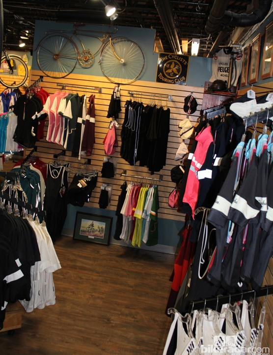 U Bikes is one of the few in the country with a dedicated Rapha section