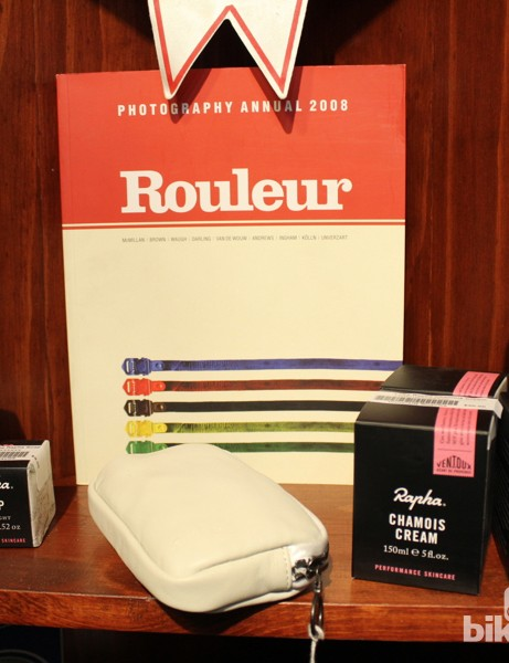 In addition to a full Rapha clothing line, U Bikes also stocks Rapha's skin products and paraphanelia