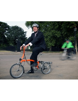 Transport Minister Stephen Hammond launches the THINK! CYCLIST Let's Look Out For Each Other campaign at Horse Guards Parade in central London in September 2012