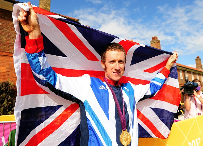 Bradley Wiggins received a knighthood in the British New Year Honours list