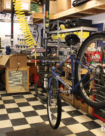 Look closely at the repair stands – they're a bit backwards