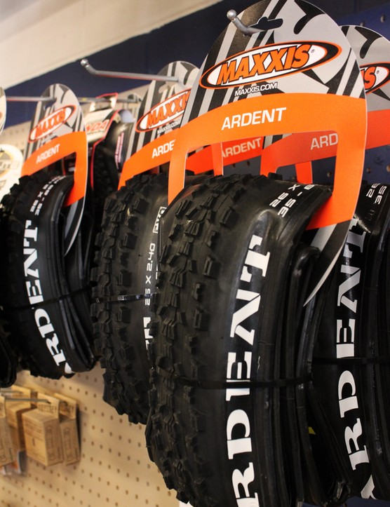 The Maxxis Ardent is a popular tire for the rocky trails west of Fort Collins