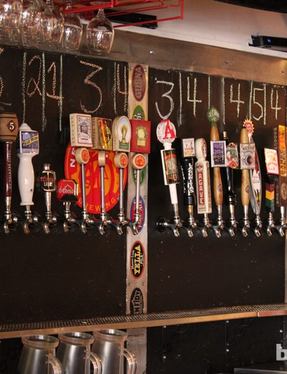 There are a number of local beers on tap