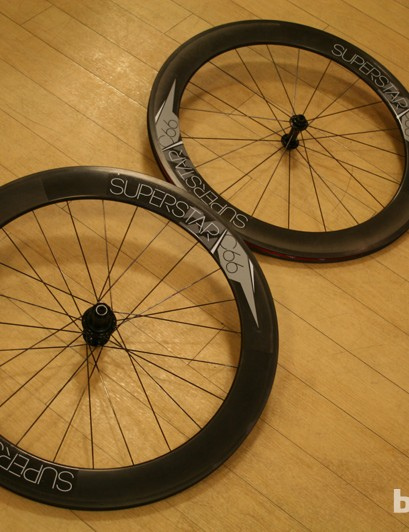The C66 carbon clincher road wheelset will set you back £700 and balance the scales at 790F/980R, or 1,770g for the pair