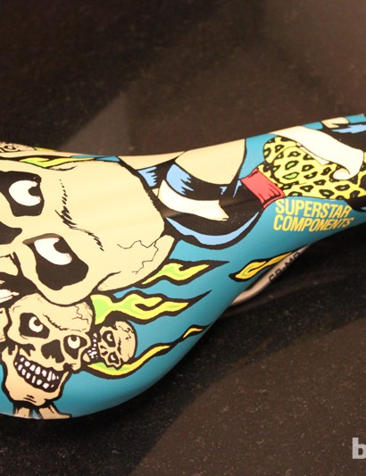 The Killer saddle features graphics from a UK based artist and isn't for the faint hearted