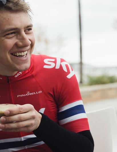 Edvald Boasson Hagen in his Norwegian national champion's kit