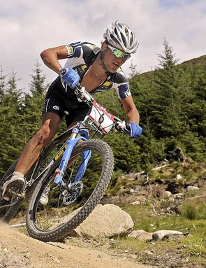 South Africa's Burry Stander during the Mountain Bike World Cup at Fort William in 2008