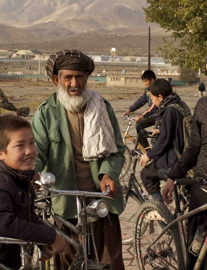Bicycles are commonplace in Afghanistan, but women riding them aren't
