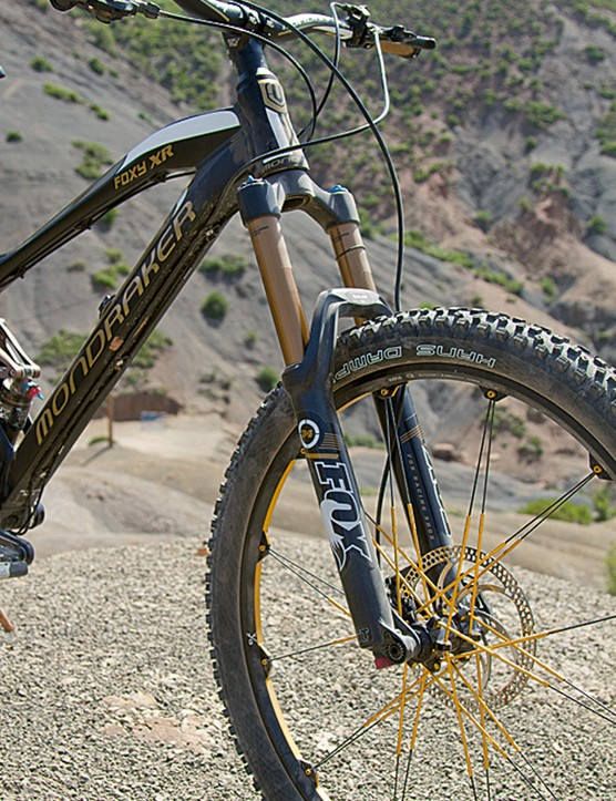 The Fox 34 CTD fork is Kashima coated. As is the CTD shock