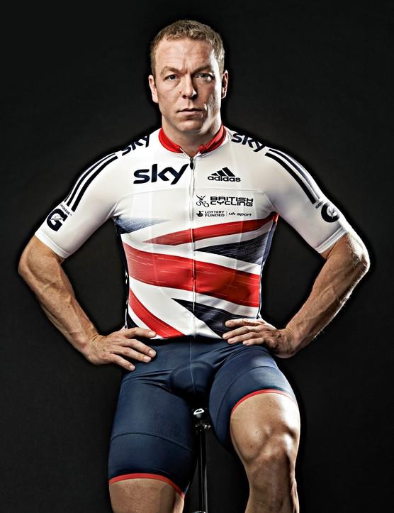 Sir Chris Hoy in the new British Cycling/Adidas team kit