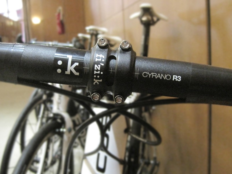 Fi'zi:k is testing handlebars and stems with AG2R-La Mondiale