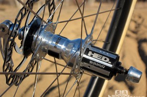 HED fits the 135mm-wide rear hub with a 26T driver, which yields a so-so 13.8-degree engagement speed