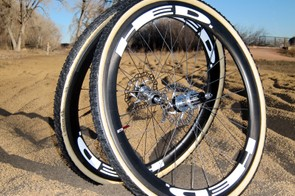 The HED Stinger 5 Disc wheels aren't astoundingly light at 1,606g for the pair, but they're disc-ready, wonderfully stiff, and offer ample support for fat cyclocross rubber