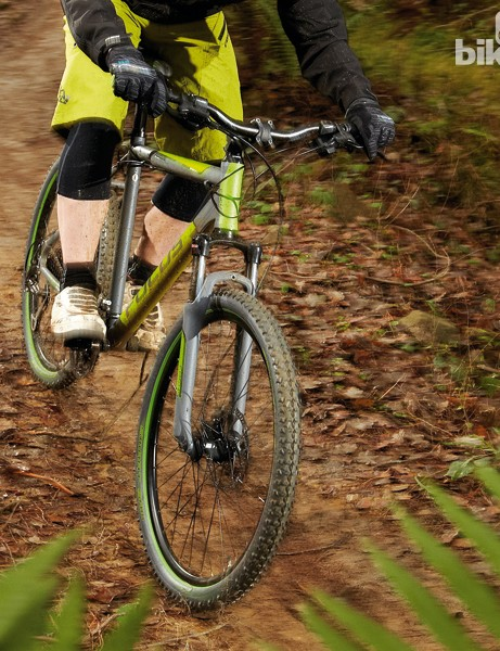 The Whistler is let down by its uncontrolled fork rebound