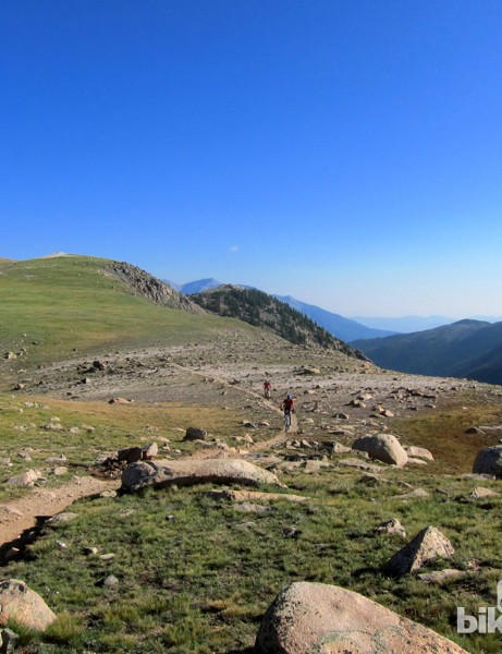 One of several sections of Crest trail that straddles the Continental Divide