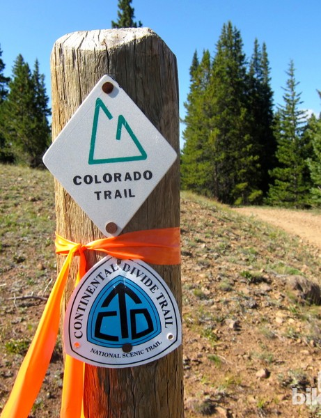 Another great benefit to signing up for the Monarch Crest Crank ride is that you get excellent trail markings