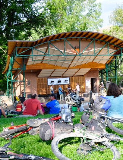 The Monarch Crest Crank organised ride includes great food and music in Riverside Park, Salida