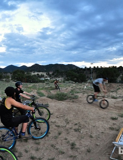 Salida does have a city-maintained pump track, but we were lucky enough to get invited to Salida Bike Company owner Anton Van Leuken's personal track for an evening session under a full moon