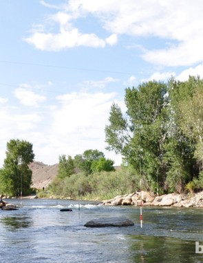 The Arkansas River runs right through Salida, and is a great place to swim on warmer days