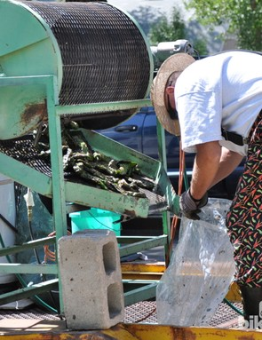 Freshly roasted green chilis are one of the many offerings at Salida's farmers' market