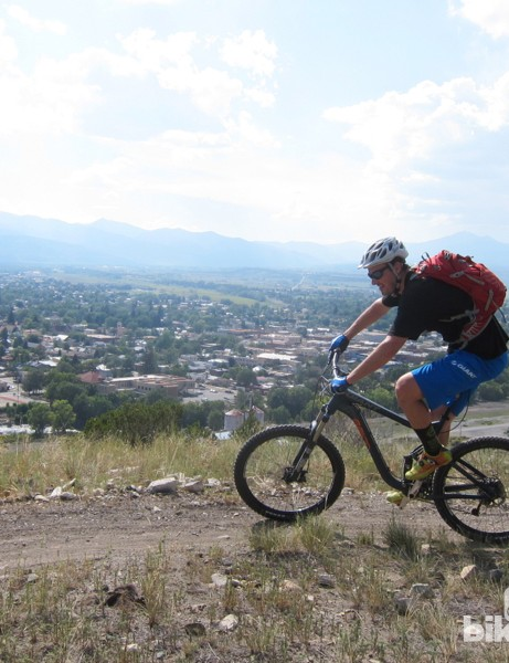 'S' hill trails never venture very far from town, yet provide great riding