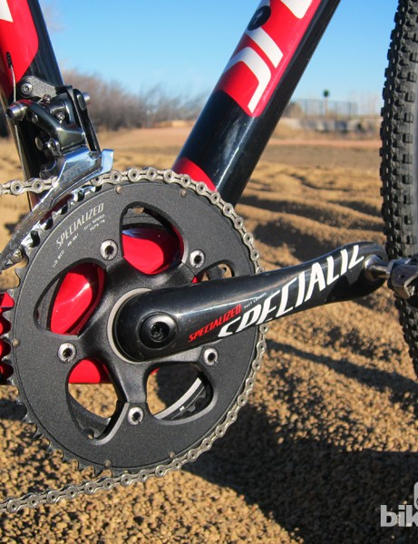 Specialized's own carbon fiber crankarms are notably stiff, with outstanding power transfer